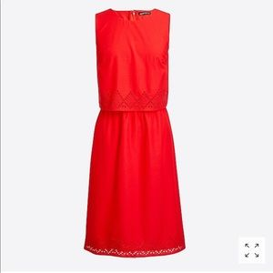 J.Crew Two-Tier Eyelet Dress
